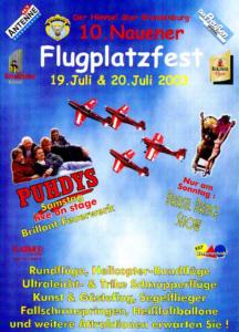Verkehrslandeplatz Nauen: Moderation der Flugplatzfeste 2001, 2002, 2003